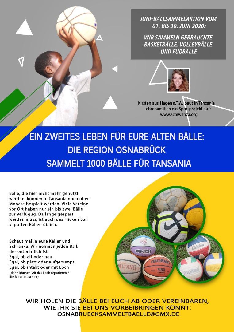 Ballsammelaktion für Sportprojekt in Tansania