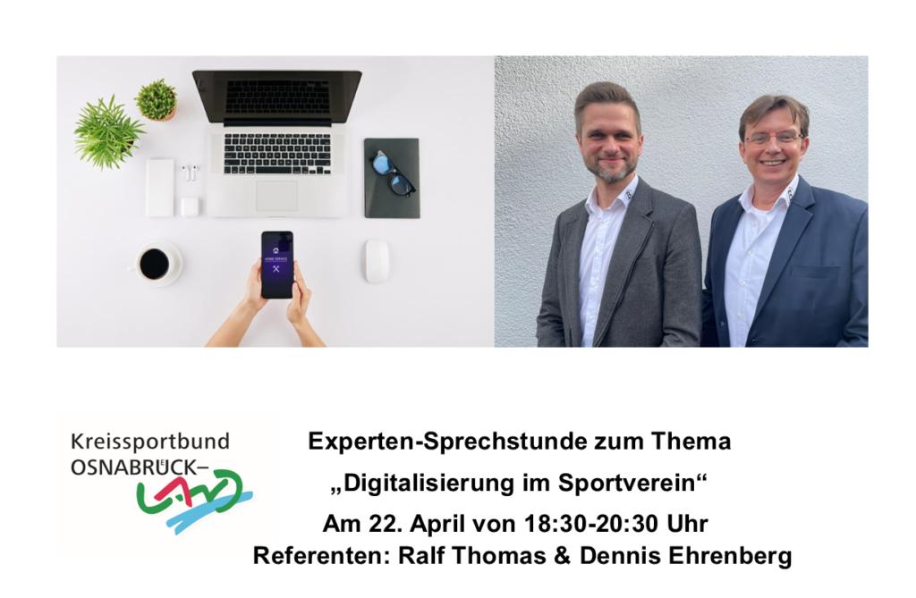 """Online-Experten-Sprechstunde """"Digitalisierung im Sportverein"""" am 22.04."""