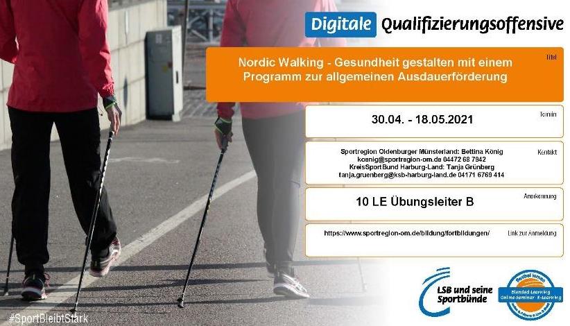 Nordic Walking – Einweisung in ein standardisiertes Kurskonzept